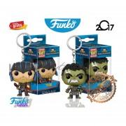 2 Llaveros Thor Y Hulk Funko Pop Pelicula Thor Keychain 2017