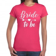 Bellatio Decorations Bride to be Cupido t-shirt roze dames XS - Feestshirts