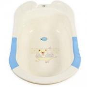 Бебешка вана с подложка и оттичане Starfish 80 см. Moni, синя, 356256