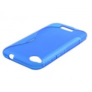 Wave Case for HTC Desire 320 - HTC Soft Cover (Frosted Blue/Blue)