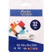 OSEL Silver Zoom Metallic 32GB USB 2.0 Pendrive (Pack Of 1) 32 GB Pen Drive(Silver)