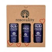 Renovality Original Series Argan Oil confezione regalo olio corpo 100 ml + olio corpo Apricot Oil 100 ml + siero ialuronico Hyaluron Serum 50 ml donna
