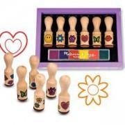 Комплект дървени печати с дръжка, 12407 Melissa and Doug, 000772124072