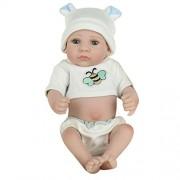 Zibuyu Lovely Silicone Reborn Baby Dolls Lifelike Simulation Doll Toy Infant Gift (002)