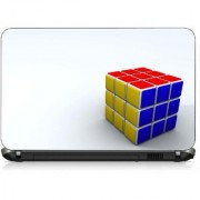 VI Collections THREE COLOR SQUARE pvc Laptop Decal 15.6