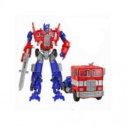 Angel Impex Robot Transformer Transforming Into A Truck Action Figure Toys For Kids (Red And Blue)