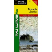 Wandelkaart 216 Trails Illustrated Olympic National Park | National Geographic