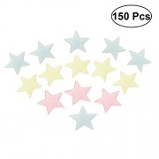 TOYMYTOY 150pcs Glow in Dark Stars Luminous Star Stickers for Ceiling and Wall Decals (50pcs Yellow Star/50pcs Red Star/50pcs Blue Star)