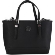 Tommy Hilfiger Women Casual Black PU Tote