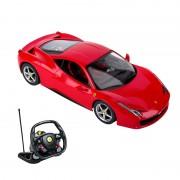 Masina Ferrari 458 cu volan, scara 1:14, telecomanda