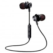 M6 Magnetic Bluetooth In-ear Wireless Headphones - Black