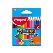 Creion colorat Maped COLOR`PEPS MINI, 12buc. cutie