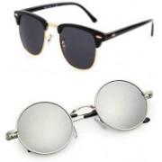 Ivonne Butterfly Sunglasses(Silver, Black)