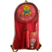 GENERIC KORAEMON Kids Racket Set with Three Plastic Multi-Color Shuttlecock (Color May Vary)