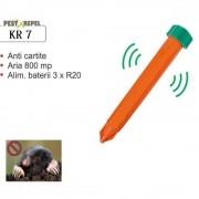 Dispozitiv electronic pentru combaterea rozatoarelor subterane (cartita, jder, dihor, sobolan de camp) Pest-X-repel KR7, 800mp