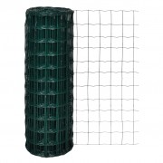 vidaXL Euro Fence 10x1.7 m with 76x63 mm Mesh Steel