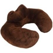 "JOURNEY9 POLYSTER HIGH NECK ""U"" PILLOW BROWN Neck Pillow(BROWN)"