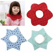 iDream Round Neck 360 Degree Cotton Baby Bibs - Red Blue Green (Pack of 3)