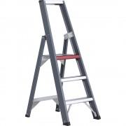 Altrex Alu-Stufenstehleiter, einseitig begehbar mit Ablageschale 3 Stufen, Arbeitshöhe 2700 mm