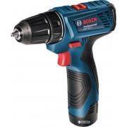 Maşină de găurit/înşurubat Bosch Professional GSR 120-LI, 12 V, 1300 rpm, Acumulator, Albastru, 06019F7001