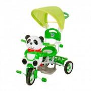 Pandás fedeles tricikli, zöld