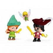 FAMOSA Pinypon - Peter Pan, Garfio y Campanilla