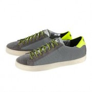 P448® Reflektor-Sneaker, 42 - Grau/Silber/Neongelb
