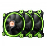 Thermaltake Riing 12 High SP LED Fan 3 Pack Green