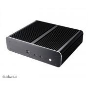 Carcasa AKASA A-ITX26-M1B THIN USB 2 Mini ITX Computer Euler Fara sursa