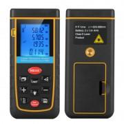 Télémètre Digital Laser - De 0.05 à 100 mètres / Niveau à bulle / IP54 / Trou pour trépied 1/4 pouce / Housse de transport
