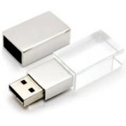 Wefuse Crystal Transparent Led Light Metal USB Flash Drive Pen Drive 16GB 16 GB Pen Drive(Multicolor)