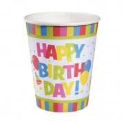 Pahare carton 250 ml set 10 bucati Happy Birthday, Herlitz