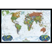 Wereldkaart Politiek, 186 x 122 cm | National Geographic