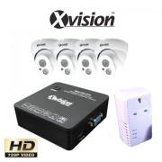 Bezdrôtový CCTV set: 4 HD kamery 720P a NVR