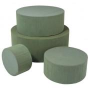 Rayher hobby materialen Rond groen steekschuim/oase blok nat 10 x 6 cm