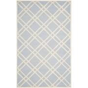 Covor Modern & Geometric Mati, Lana, Albastru/Bej, 160x230
