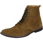 FAUSTO Men's Ankle Desert Boots For Men(Green)