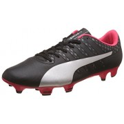 Puma Men's Evopower Vigor 4 Fg Puma Black, Puma Silver, Quiet Shade and Bright Plasma Football Boots - 10 UK/India (44.5 EU)