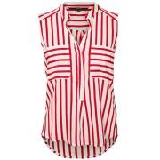 Vero Moda Bluză pentru femei Erika S/L Stripe Shirt Color Snow White/Red S