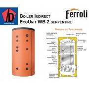 Boiler cu doua serpentine Ferroli ECOUNIT 500-2 WB 500 litri
