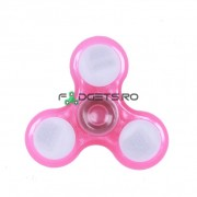 Fidget Spinner Led Fosforescent Roz