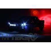 MyTrickRC Genuine MyTrickRC -OPK01- Off Road RC 10 LED Light Kit Includes 4 Headlights 4 Driving Lights 2 Tail/brake Lights). This Kit Features a High End Expandable Multi-function Lighting Controller that is Easy to Install and Powers off a 9V Battery or