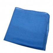 Doek van biologische zijde, blauw l 42 x b 42 cm