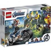 Set de constructie Lego Super Heroes 226 piese- Atacul Razbunatorilor cu motociclete
