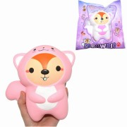 2PCS Amourie Meowpie Squishy Squirrel Slow Rising Animal 16cm Squeeze Gift Collection With Packing