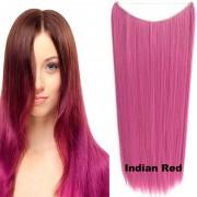 Flip in vlasy - 60 cm dlouhý pás vlasů - odstín Indian Red - Světové Zboží