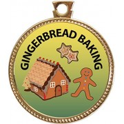 "Keepsake Awards Gingerbread Baking Gold Award Disk ""Culinary Arts Collection"" 1 Inch Dia"