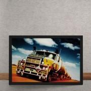 Quadro Decorativo Caminhao Mack Truck 25x35