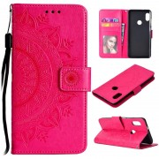 Mandala Series Xiaomi Redmi Note 5 Pro Wallet Case - Hot Pink