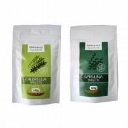 Organiqa alga csomag, 250 db Spirulina és 250 db Chlorella tabletta